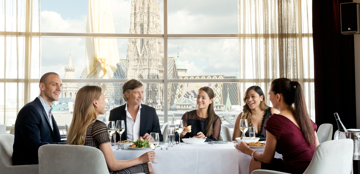 SKY Cafe Restaurant Bar Vienna Steffl Department Store