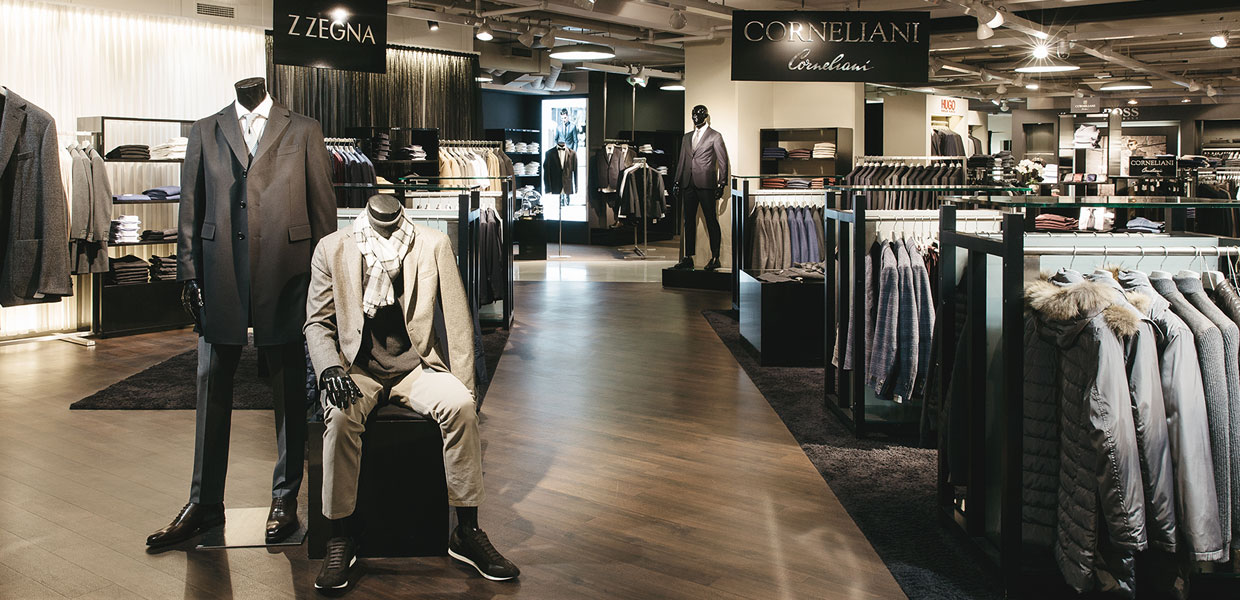 Men's Wear Department Corneliani Corner