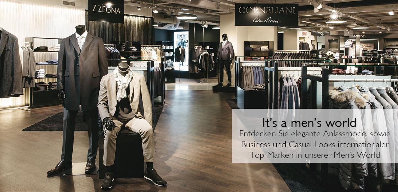 Herrenmode wie von Corneliani finden Sie im Kaufhaus Steffl in der Men's World
